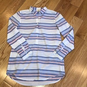J. Crew button front tunic